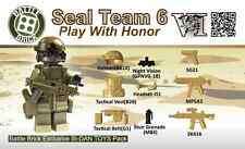 Special Forces Seal Team 6 Weapons Pack (SKUP24) Designed for Brick Minifigures