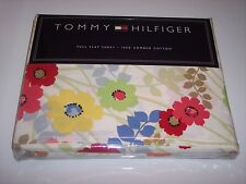 Tommy Hilfiger Bedding Collection St.Barth's Full Flat Sheet 250 TC Floral Print