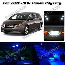 13pcs Interior LED Package+Back Up Lights For 2011-2016 Honda Odyssey Blue