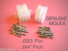 9 Pin Connector - Complete Molex Wire Conn. with Pins (.093),   w /Lock .264