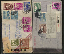 Peru  2 censor covers  , one registered both to US            KL0206