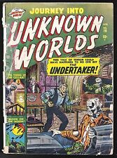 JOURNEY INTO UNKNOWN WORLDS # 10 MARVEL COMICS 1952 PRE-CODE HORROR ATLAS