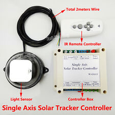 Single Axis Solar Panel System Tracker Tracking Electronic Controller +IR Remote