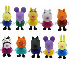 10pcs Peppa Pig Friends Toys Danny Emily Rebecca Suzy George Pedro Kids Gift Toy
