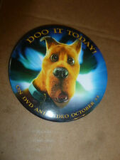 2002 Scooby Doo Promotional Pin Back Movie Button Do It Today Video