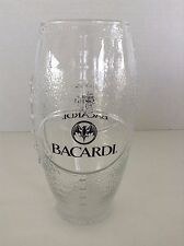 Bacardi Football Shaped Drinking Glass With Famous Bat Logo