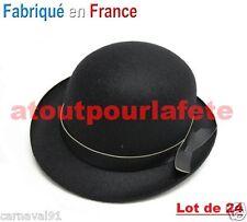 LOT DE 24 Chapeaux Melon Noir enfant,Charlot,Dupont,Clown,Accessoire,Déguisement