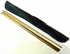 SGL 2 PC ASH POOL / SNOOKER CUE WITH SOFT CASE