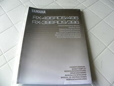 Yamaha RX-496RDS/496  RX-396RDS/396 Owner's Manual  Operating Instruction   New