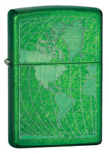 Zippo Windproof Green Iced World LIghter, Meadow, 28340, New In Box