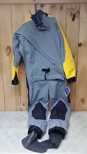 NRS Men's Extreme Relief Drysuit Paddling Dry Suit Gray/Yellow - Size Large  New