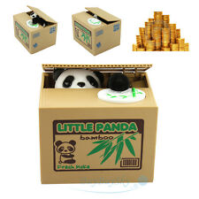 Auto Panda Coin Money Steal Stealing Piggy Bank Money Collection Case Kids Gift