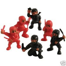 12 Mini Ninja Fighter Figures Toy Party Goody Bag Favor Cake Topper Supply