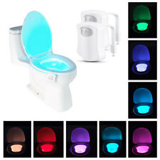 2-Pack: 8-Color LED Motion Sensing Automatic Toilet Bowl Night Light