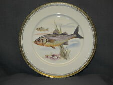 "BAVARIA VERY FINE PORCELAIN HAND PAINTED FISH PLATE ""E"""