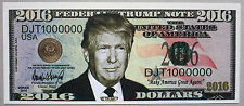 USA Donald Trump fantasy paper money for president 2016