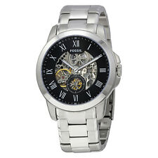 Fossil Grant Automatic Black Skeleton Dial Mens Watch ME3055
