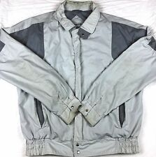 Vtg Members Only Europe Craft Racer Jacket Rainbow Label Lt Large Tall 2-Tone