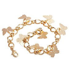 Womens Chain Charm Gold Filled Gold Butterfly Bracelet stainless steel bracelet