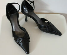 ANNAPELLE 'New Haven' ankle strap heels Black Size US 7 Eur 38 UK 5 Used