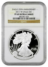 2011-W 1 Oz Proof American Silver Eagle 25th Anniversary NGC PF69 UC SKU23413
