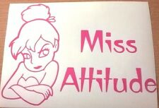 cute cheeky girls miss attitude pink vinyl car sticker decal fairy tinkerbell vw