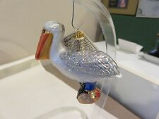 Pelican Old World Christmas glass ornament