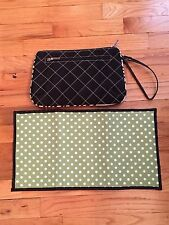 JP Lizzy Zebra Chamelia Diaper Clutch EUC Black with Changing Pad