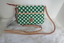 Dooney and Bourke Green Gingham Ginger Crossbody Bag NWT Rare Exclusive Color