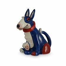 Bull Terrier Dog Teapot Ceramic Quirky & Colourful from  Blue Sky Boxed