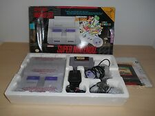 Super Nintendo System Complete SNES Console Super NES Mario World All Stars Set