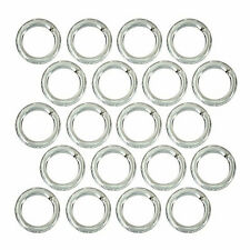 .925 STERLING SILVER OPEN JUMP RINGS 6mm DIAMETER; 22 GAUGE - (20)