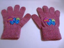 GUANTI BARBIE BAMBINA ROSA CON BRILLANTINI BARBIE PINK GLOVES WITH GLITTER