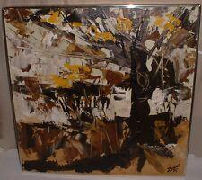 ETTA BENJAMIN CIEN HILLSIDE ORIGINAL MID CENTURY MODERN ABSTRACT PAINTING TREE