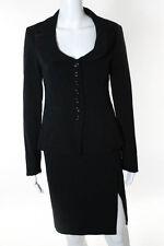 Nanette Lepore Black Long Sleeve Blazer Skirt Suit Sizes 0 4