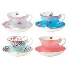 NEW Royal Albert Candy Teacup & Saucer (Set of 4)