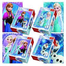 Trefl Mini 4 x 54 Pezzi Bambini Bambine Disney Frozen Terra Anna Elsa Puzzle