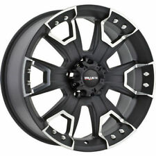 "20"" Ballistic Havoc Wheels Black Rims 8x80 +12 Chevy Silverado 2500 3500 GMC 22"