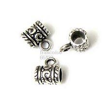 5 Bélières attache breloque arg 11x9x7mm Apprêts création bijoux bracelet _ A302