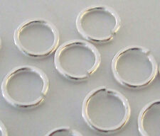 100pcs solid 925 Sterling SILVER 5mm Open Jump Rings O bright  20.5 gauge R25