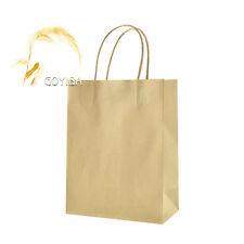 Candy Color Kraft Paper Gift Bags with Handle Shopping Party Supply Custom Print