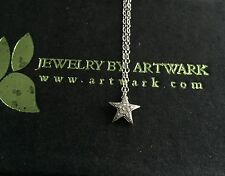 BNIB Designer Sterling Silver Diamond Pave Star Charm Necklace Chain Pendant