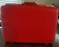 Vintage American Tourister Tiara red hard case suitcase luggage hard case