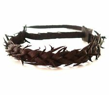 Genuine leather hand braided BRACELET CUFF BAND  ORIGINAL MADE IN THE UK