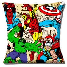 "NEW CAPTAIN MARVEL COMIC BOOK ACTION HEROES HULK THOR 16"" Pillow Cushion Cover"