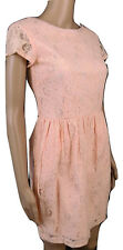 H&M CONSCIOUS COLLECTION size 10 LADIES DRESS LACE PEACH BRODERIE