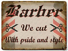 BARBER SHOP hair salon Medieval VINTAGE style metal SIGN wall display PLAQUE 433