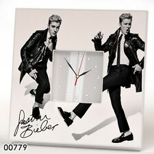 JUSTIN BIEBER Wall CLOCK Frame Mirror Autograph Poster Pop Collection Gift IKEA
