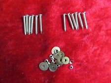 12 Genuine factory Straight Razor pins & Washers For re-scaling Straight razors