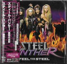 STEEL PANTHER - Feel The Steel - JAPAN CD OBI/ Glam Bon Jovi Ratt Twisted Sister